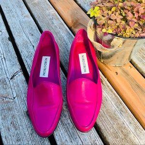 Vintage Size 7 Nordstrom Pink leather flat loafer